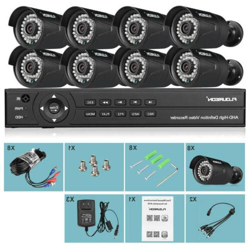 FLOUREON 8CH 1080P CCTV Security Camera System