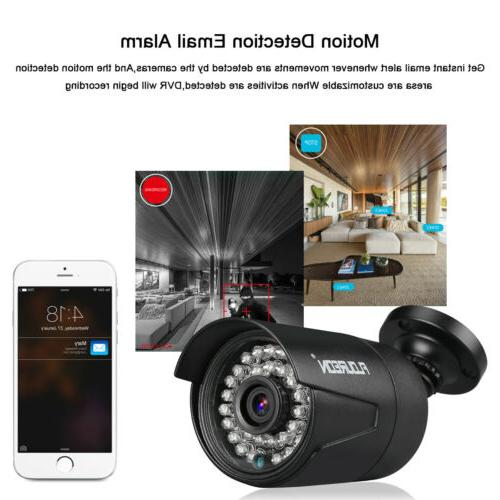 FLOUREON 8CH 1080P 3000TVL IR CCTV Security System