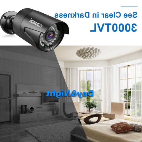FLOUREON 8CH DVR Full 1080P 3000TVL CCTV Security System