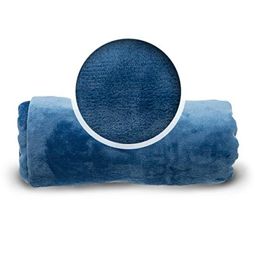 Cabeau Go Travel and Throw Plus Compact Case For Travel - Doubles as Pillow Neck Support Pillow Microfiber