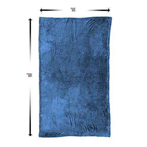 Cabeau Fold Travel Blanket For Pillow Pillow - Microfiber Comfort - Blue