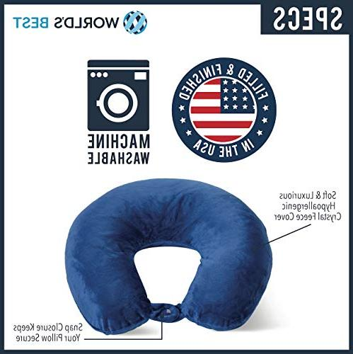 World's Best Feather Microfiber Fence Neck-Supportive Pillow