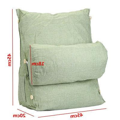 Adjustable Back Wedge Cushion Sofa Pillow Bed Chair Support US