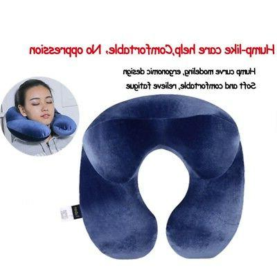 Inflatable Travel Neck Pillow Soft Air U Shape Pillow Sleep