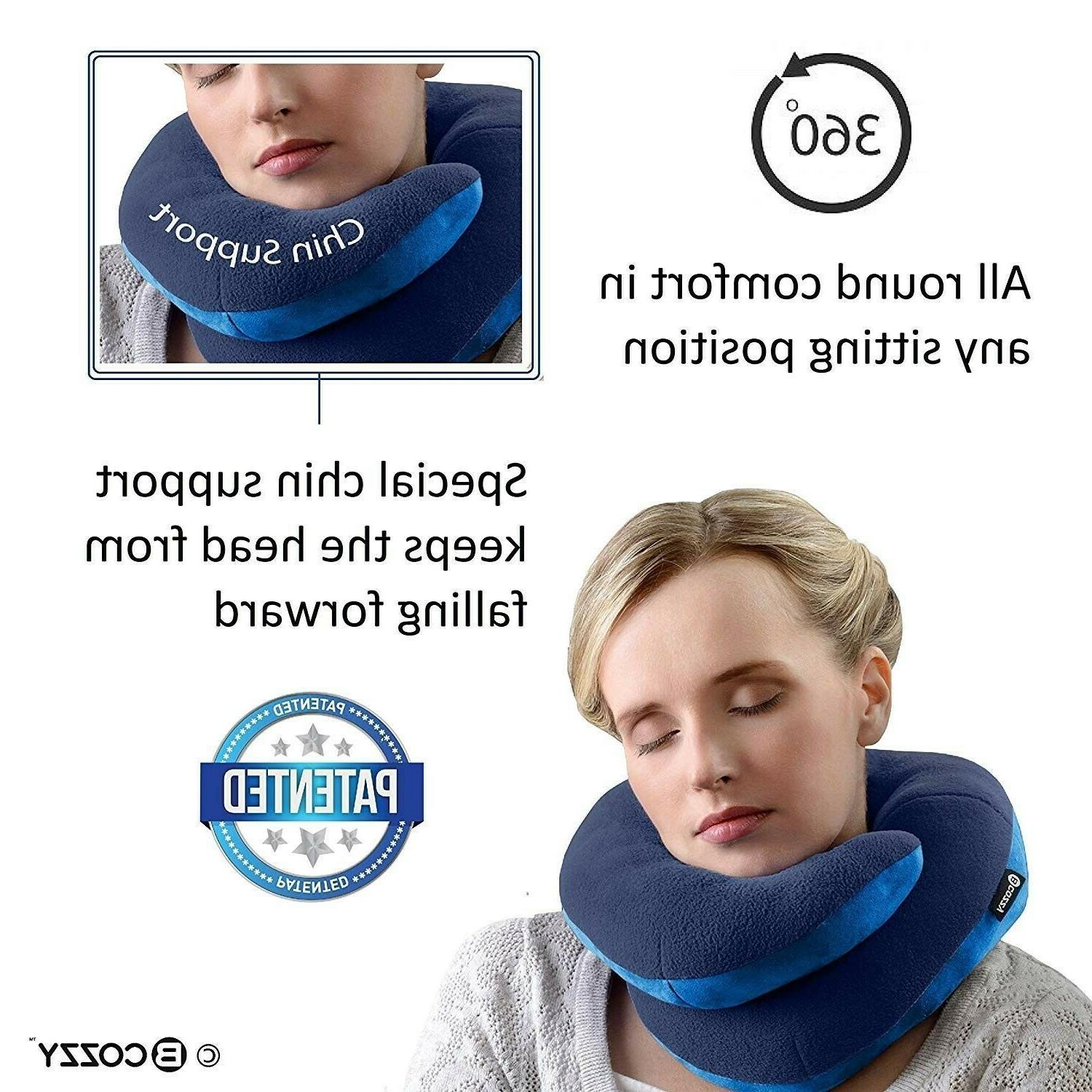 BCOZZY Chin Travel Pillow - Prevents The Head from
