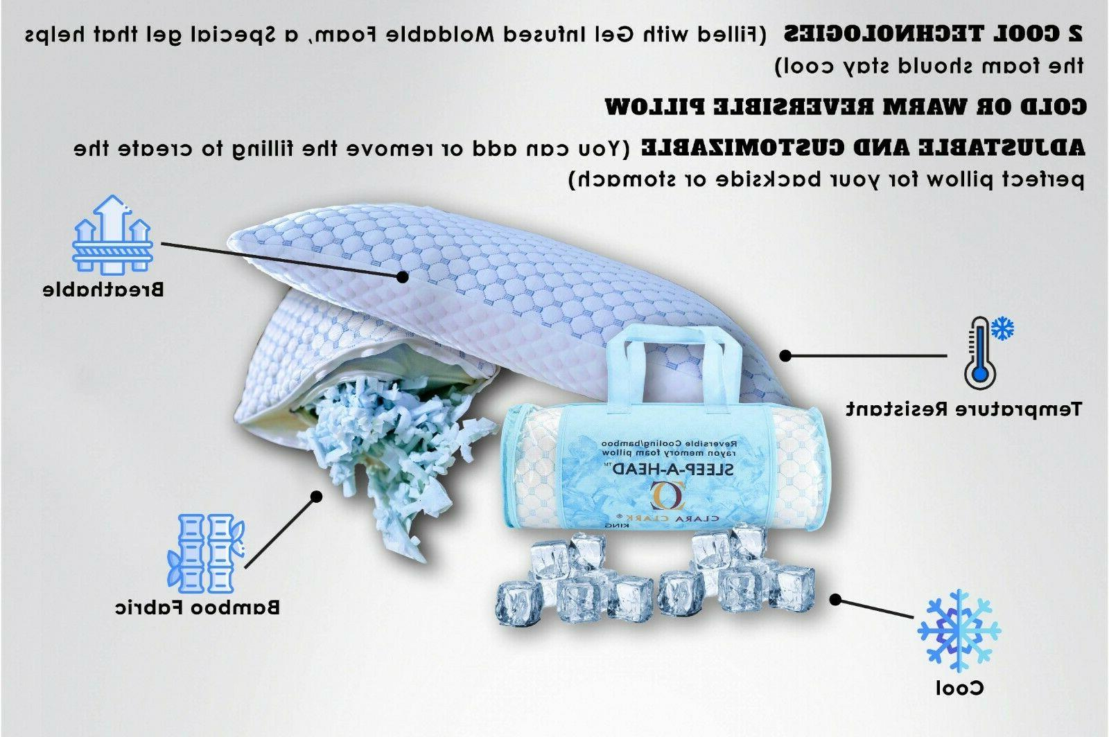 ❄Bed Gel Memory Foam Supports and Side Sleepers