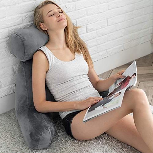 ZOEMO Pillow - Bedrest Pillows with Arm Neck Watching Floor or Big Pillow with Neck