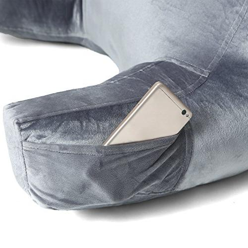ZOEMO Pillow - Bedrest with Arm Rests Neck Roll for Watching Floor or Big Bedrest Pillow Neck