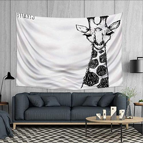 black white tapestry wall hanging