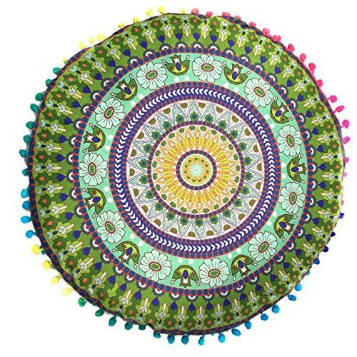 Bohemian - Mandala Floor Bohemian Color Textile 43cm Drop Rest Cut Binding - 1PCs