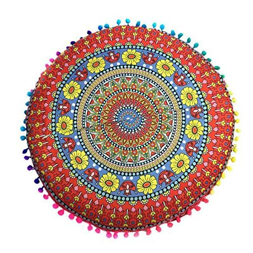 Bohemian Cushion - Mandala Bohemian 43cm Drop Rest Spread Cut Binding - 1PCs