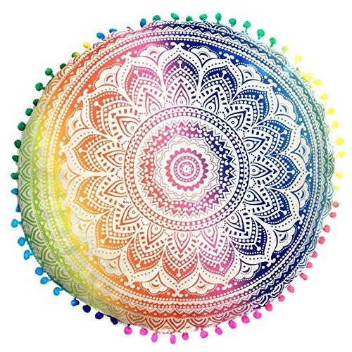 Bohemian Cushion Indian Mandala Floor Bohemian 43cm Rest Screening Cut Covert Masking