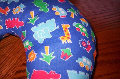 Handcrafted boys,girls Jungle blue child washable cotton neck pillow
