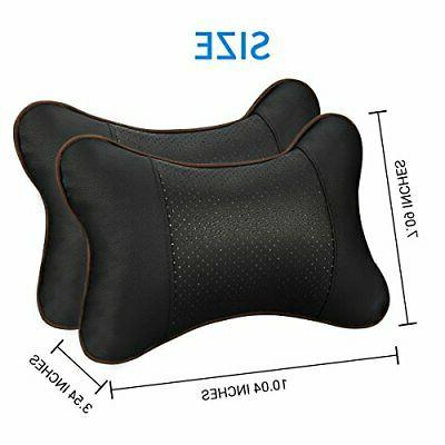 Car Pillow 2PC Breathable Leather Seat Support