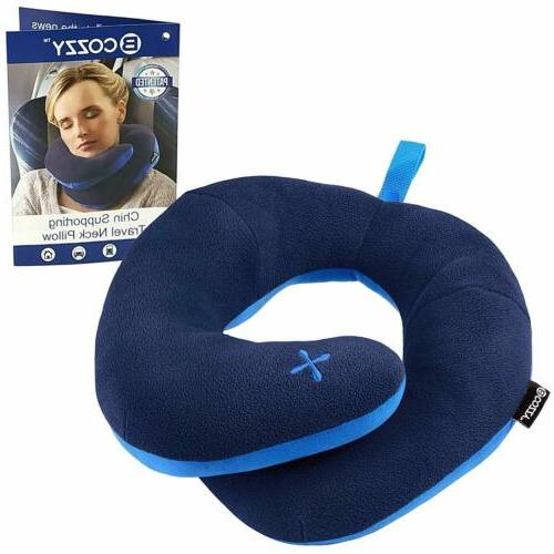 chin supporting patented travel pillow prevents