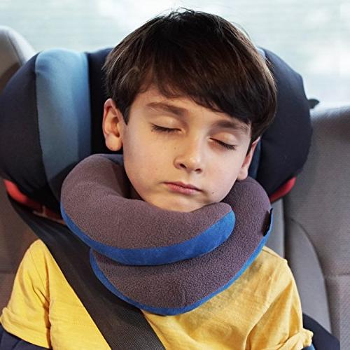 BCOZZY Kids Chin Travel Neck Pillow Supports Chin in Product.