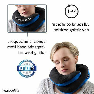 BCOZZY Supporting Travel Neck Pillow Supports the Head, Neck and