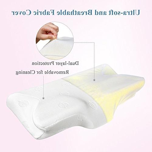 MARNUR Contour Pillow Orthopedic Neck Ergonomic with RoHS for Back and Stomach Pillowcase Covers