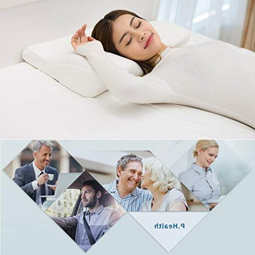 Emolli Pillow, Orthopedic Neck Pain, Pillow for Back Sleepers, Sleepers Stomach with 24 4 Inch