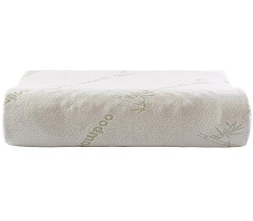 Cheer Collection Contoured Latex Pillow Eco-Friendly Cover