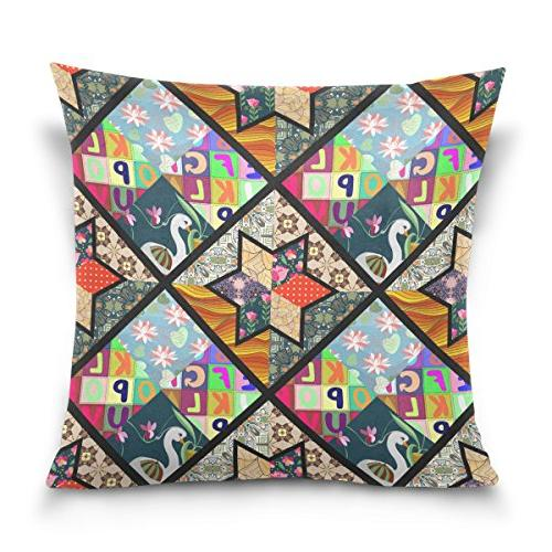 double sided colorful childish patchwork