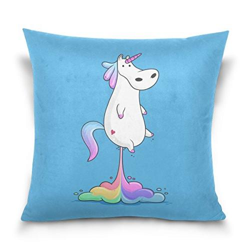 double sided funny colorful unicorn