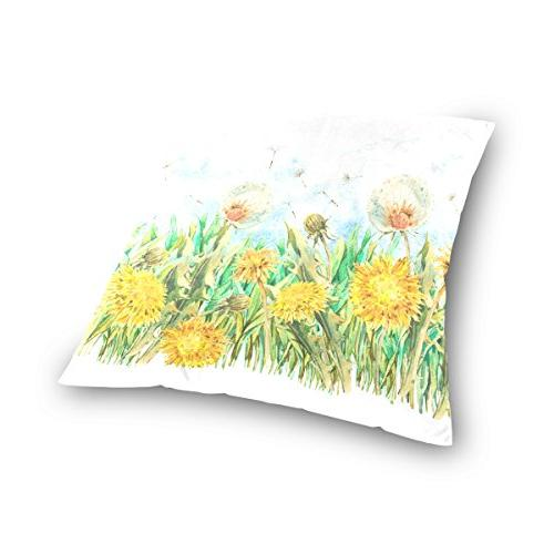 ALAZA Sided Sunflower Dandelion Cotton Velvet Cover Covers 16 x 16 Inch Slip Decorative
