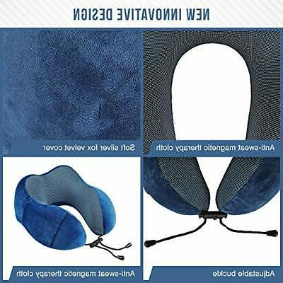 Ergonomic Travel Pillow Set | Kit Includes Eye &