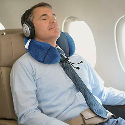 Ergonomic Travel Neck Pillow Set | Flight Includes &