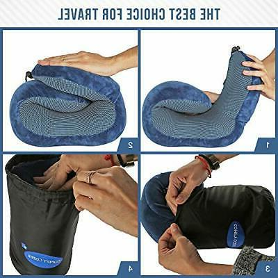 Ergonomic Neck Set Kit Includes Eye Mask, Earplugs &