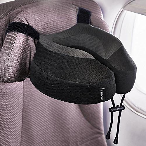 Cabeau Evolution Pillow – Straps Airplane Your Won't Forward Relax Quick-Dry by Sleep Best Support