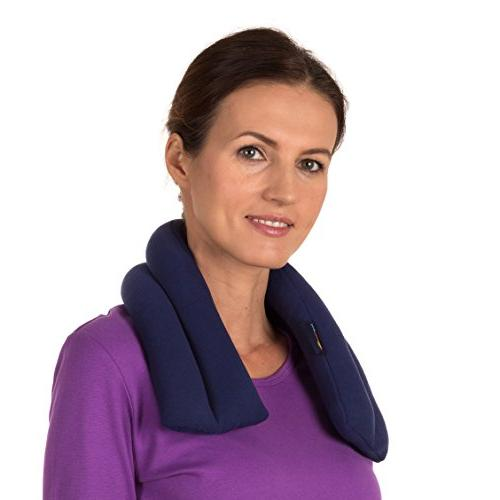 Sunny Bay Scented Extra Long Neck Heat Wrap, Navy Blue, Lave