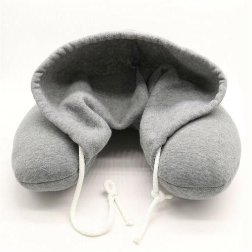 Hooded Neck Support Headrest Travel Soft Train