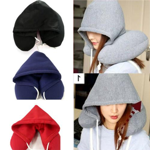 Hooded Support Car Flight Travel Soft