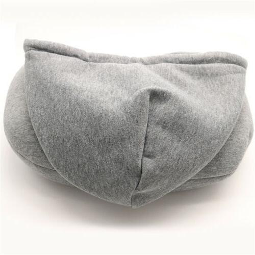 Hooded Pillow Support Travel Soft Train