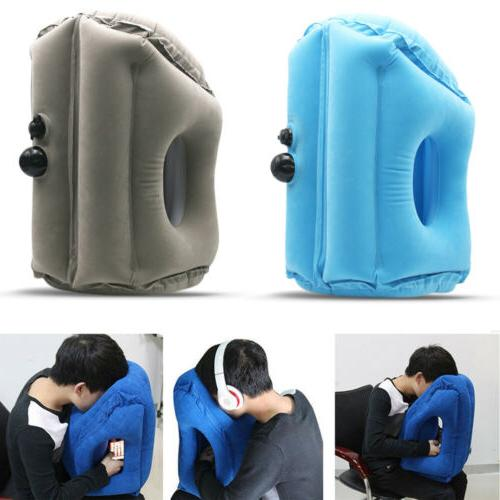 inflatable air travel neck pillow camping airplane