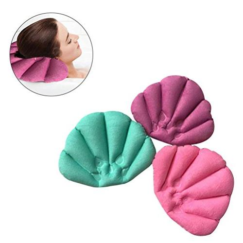 ROSENICE Inflatable Bath Pillow Spa Pillow Soft Back
