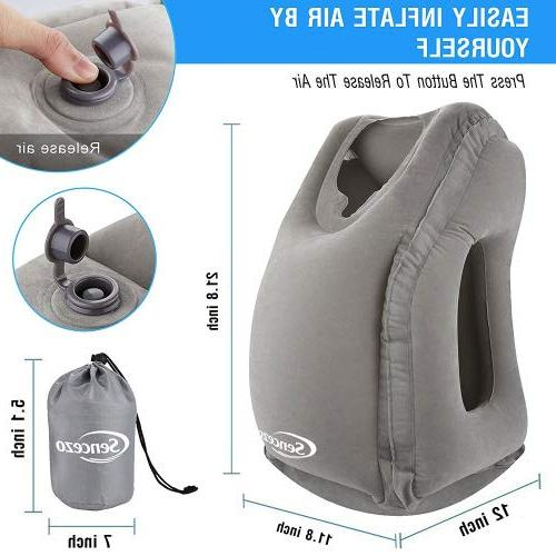 Inflatable Travel Pillow Sleep Mask, Earplugs, - Airplane Pillow for Long-Haul Flights & Road Trips Compact, Accessories