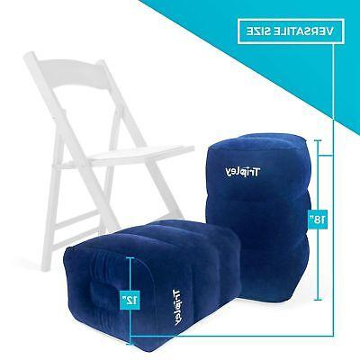 Inflatable Foot Rest for Airplanes/Cars/Home/Office