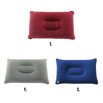 Inflatable Pillow Neck Support Flocked Fabric Cushion