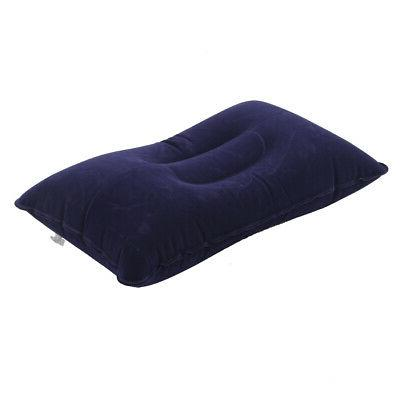 Inflatable Travel Pillow Support Flocked Cushion Outdoor