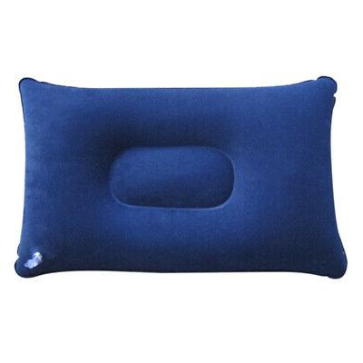 Inflatable Neck Support Flocked Fabric Cushion