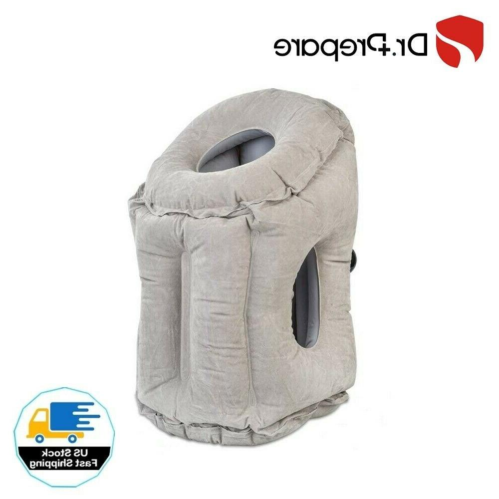 inflatable travel pillow portable for airplane nap
