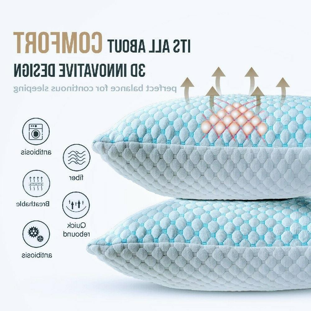 instant cooling bed pillows king 2 pack
