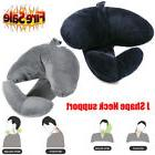 J-shape Travel Pillow Head Chin and Neck Support for Airplan