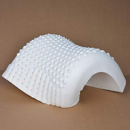 SatisInside Talalay Natural Latex Pillow Contoured Neck Pillow Breathable