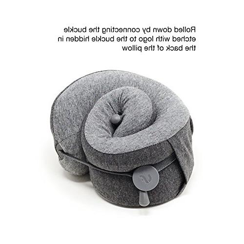 LFwellness Massaging Neck To Sleep And Relieve Supportive Travel Pillow With Magnetic Clasp