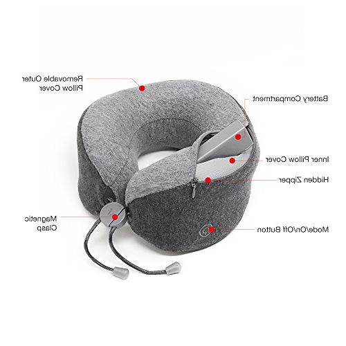 LFwellness Pillow To Aid And Relieve Supportive Portable Foam Travel Magnetic Clasp