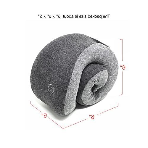 LFwellness Massaging Neck To Aid Sleep And Relieve Strained Supportive Travel Pillow Magnetic Clasp