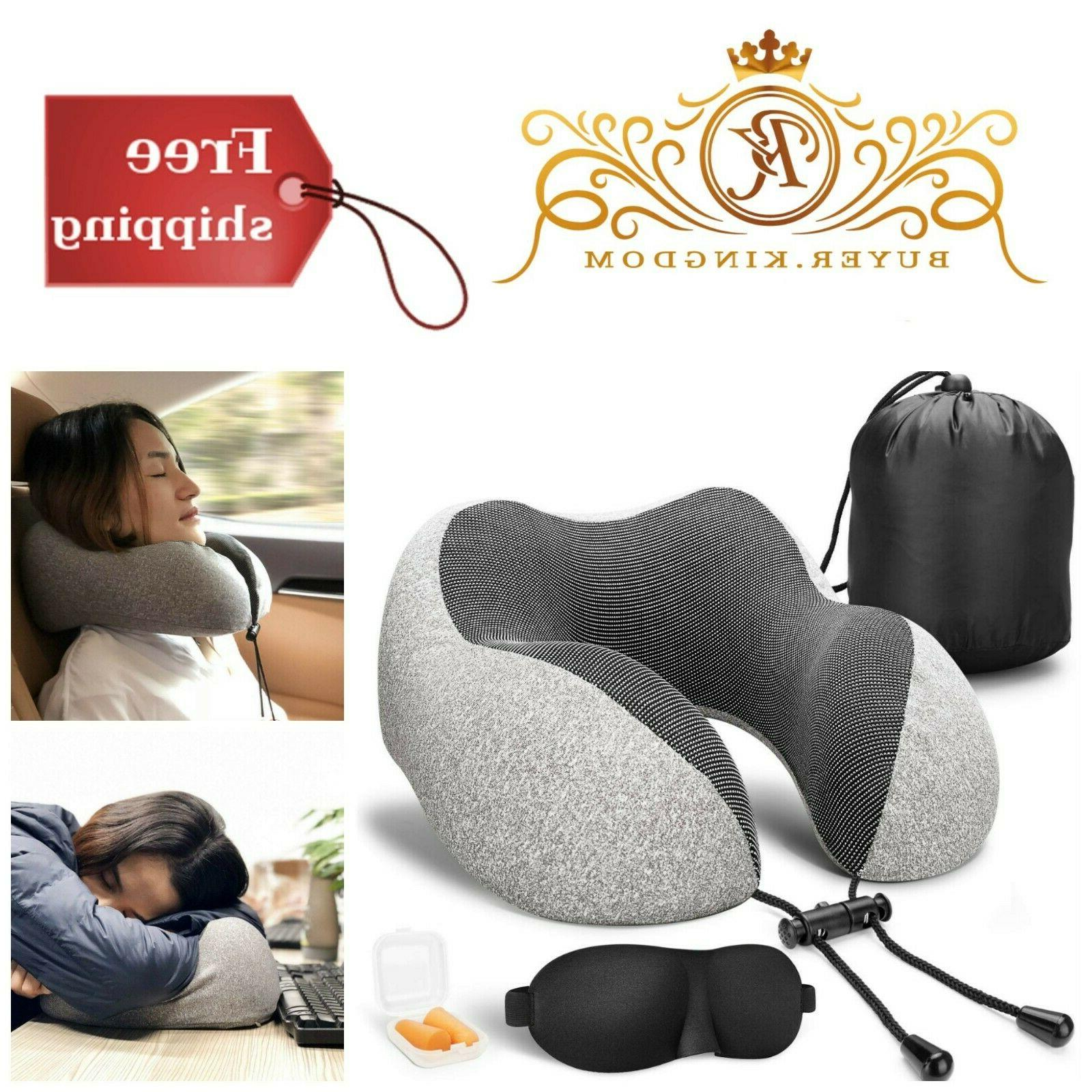 Memory Foam Neck Pillow Airplane With Gray
